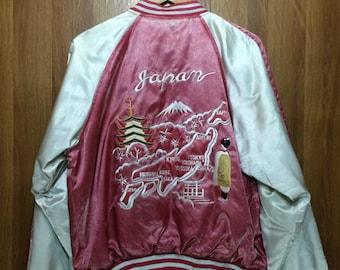 Sukajan Japan Souvenir Yokosuka Dragon Jacket Large Size Satin Material