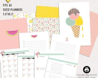 Summer Sale - Summer planning kit - Printable a5