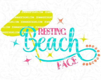 summer svg, beach svg, beach svg files, beach dxf, summer svg files, sun svg, Resting beach face svg, svg beach