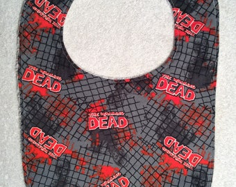 Walking Dead Baby Bibs! With Chain Link Fence!