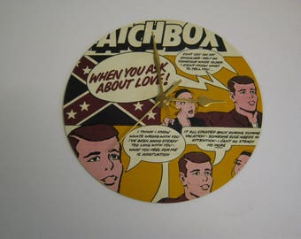 "Matchbox ""When You Ask About Love"" Special Unique Record Wall Clock Gift - Rockabilly Rebel Babes In The Wood One More Saturday Night"