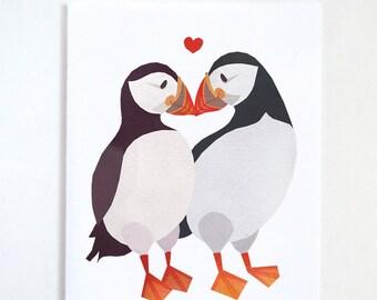 Puffin Love Card