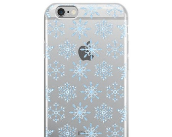 Snowflake iPhone Case - iPhone 7 Case - Winter Fashion - Clear iPhone 6s Case Transparent iPhone 6 Case - iPhone 5 Case - iPhone 6 Plus Case