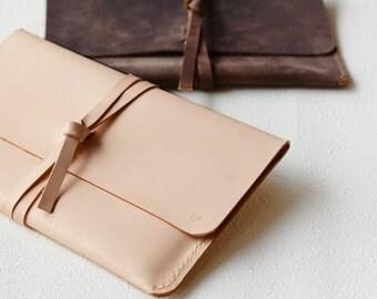 Leather Macbook Case Laptop Case Notebook Case iPad Case iPad Pro Case Laptop Bag Macbook Sleeve Nature Tan