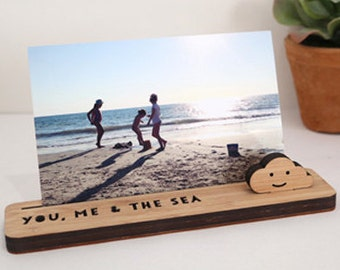 Photo Stands - Desk Organiser SMALL - Photo Holder, Desk Caddy, Memory Holder, Quote Display, made from Bamboo