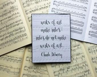 Composer Quote Art Print // Claude Debussy Quote Art Print // Musical Art // Music Teacher Art // Practice Room, Music Room Art / Music Gift