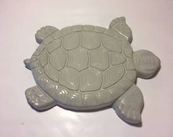 Large Unpainted Cement Turtle Stepping Stone, Garden Decor, Yard Decor, Porch Decor, Patio Decor, Gift, Housewarming,