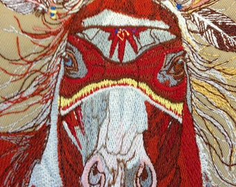 The War Pony - Embroidery Design