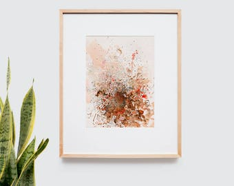 Abstract art composition - Contemporary art - Watercolor Print - Limited edition. Battle I.