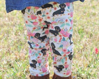 Easter Doxie Leggings