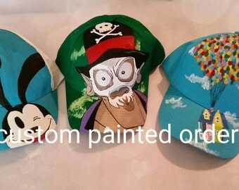 Custom Hand painted cap- made to order