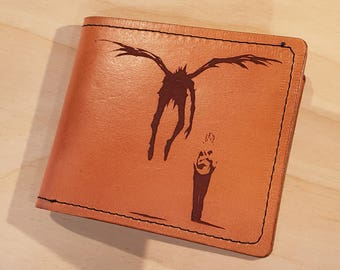 Leather Wallet - Death Note Themed with Quote Inside  -  Free Global Shipping
