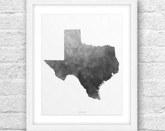 Texas City, Texas Print, Texas Art, Texas Map, Texas State Art, Wall Art, Minimal Design, Minimalist Art, Texas Printable, Texas Modern Art