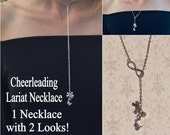 Cheerleading Infinity Charm Necklace Silver, Cheerleading Jewelry, Cheerleading Gift, Cheerleading Necklace, Cheerleader Necklace,
