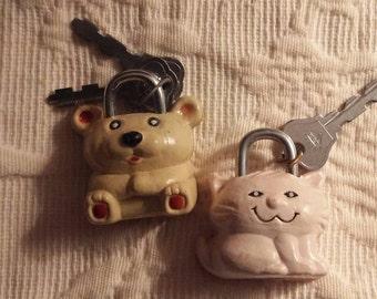 Vintage novelty locks