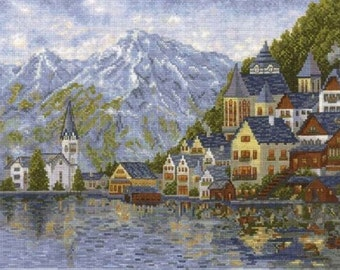 Cross Stitch Kit Create With Your Hands   - LAKE GENEVA