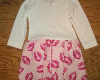 Kisses Onesie Dress