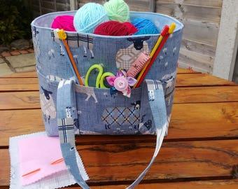 Starter Knitting Bag. Craft Bag. Bag