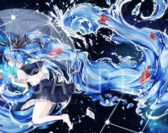 Bottle Miku [Hatsune Miku] 1x Art Print