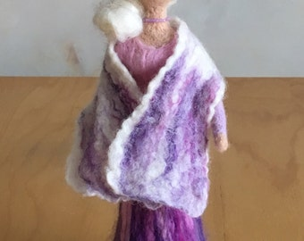 Waldorf Inspired Doll  Needle Felted Doll  Wool Felted Lady  Needle Felted Figure  Art Doll