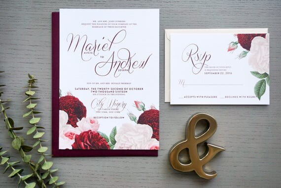 City Winery Wedding Invitation