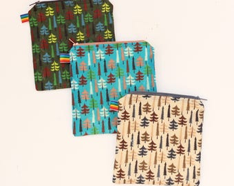 Zipper Bag - Reusable Snack Bag - Back to school - Eco Bag - Waxed Bag - Reusable Baggies - Reusable Bag - Waterproof Bag - Sandwich Bags