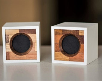 Speakers for Portable Computer Speakers Made of exotic wood Two 3W audio pasive speeakers