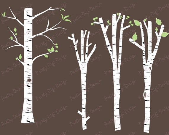 White birch clipart tree vector png