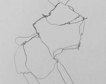 Original Pencil Drawing, Dancer