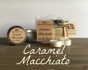 Caramel Macchiato Candle, Handmade Candles, Soy Wax Melts, Coffee Wax Tarts, Coffee Lover Gift, Gift for Best Friend, Bridesmaid Gift