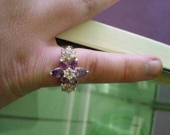 Vintage 925 sterling silver topaz ring topaz ring beautiful ring topaz