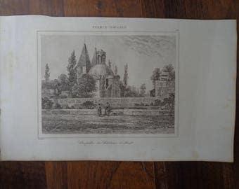"""Lemaitre Direxit, 1845 """"Chapelle de Château d'Anet"""""""