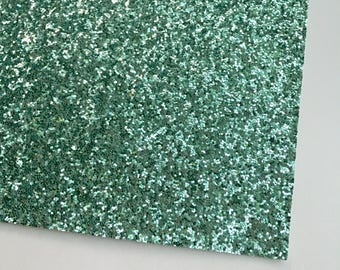 Mint Premium Chunky Glitter Fabric Sheet