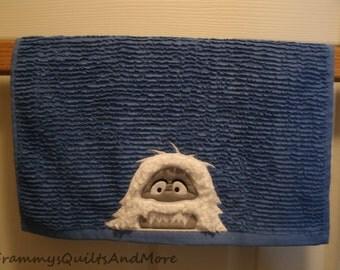 Abominable Snowman kitchen towel