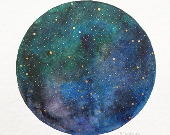 "original painting ""starry sky"""