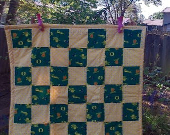 Baby Oregon duck quilt