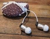 Bear Print Key Chain/Headphone Wallet