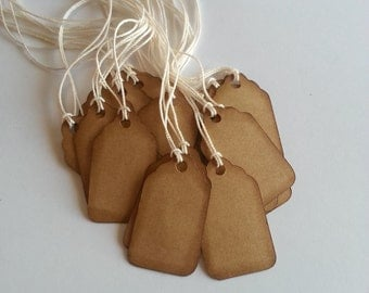 """Mini price tags, jewelry tags, gift tags, small price tags, Kraft jewelry tags, set of 40, 7/8"""" x 1 1/2"""""""