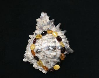 Multicolored Amber Beaded Bracelet