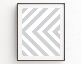 Gray Wall Picture, Gray Wall Poster, Neutral Wall Poster, Tribal Wall Print, Tribal Wall Art, Gray and White, Gray Decor, Geometric Art