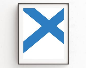 Blue Modern Wall Art | Minimalist Large Art | Digital Download