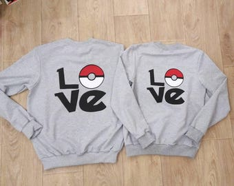 Price per set Pokemon Go Game  Hoodie Sweatshirt for two sets pokeball