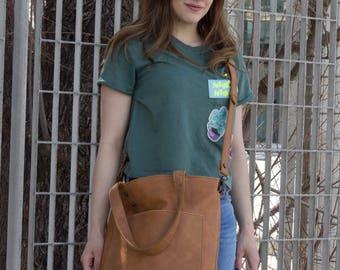 Tote bag,leather tote,leather tote bag, tote with pockets, tote with zipper,shoulder bag,shopper bag,market bag,crossbody bag, womens bag