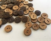 Natural Buttons,Coconut Shell Buttons,Wooden Buttons,half inch buttons,2 Hole Buttons,Wooden Texture,Sewing Buttons,Fancy Buttons,Button Lot