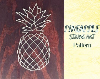 Pineapple String Art Template and Instructions | String Art Pattern | Pineapple Artwork | Pineapple Wall Art |