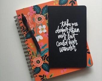 Prayer Journal // Gratitude Journal // Oceans Lyrics Journal // Lined Journal // Writing Journal