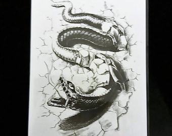 snake temporary  tattoo/ animals tattoos