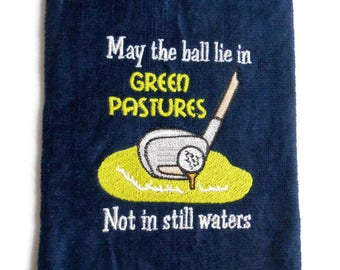 Golf towel, gift for him, golfer gift, funny towel, custom golf, birthday golf gift, golfers prayer, funny golf gift, personalize, customize