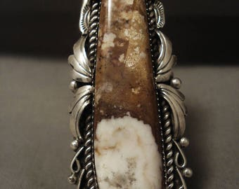 Quality Huge Navajo Tso Family Agate Sterling Silver Ring