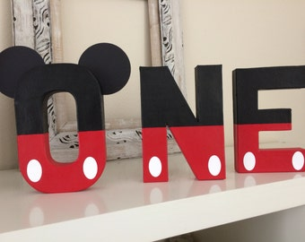 Mickey Mouse , ONE letters , first birthday decor